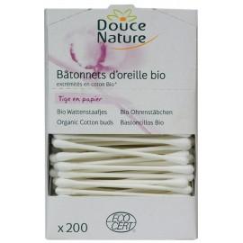Douce Nature (200 Bâtonnets) D'oreille en Coton Bio