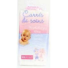 Prince & Princesse Lili 100 Carrés de Soins Non-Tissés (7.5x7.5 cm )pliés