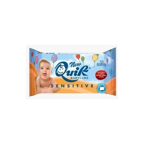 NewQuik babycare sensitive 72 lingettes bébés