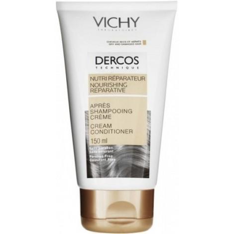 Vichy Dercos Après Shampooing Nutri-Réparateur kératino-complexe nouveau (150 ml)