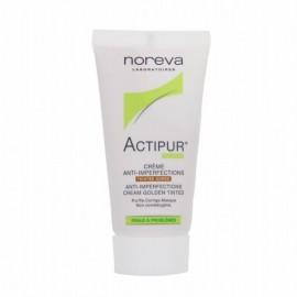 Noréva Actipur Crème Matifiante Anti-imperfections Teintée Dorée (30 ml)