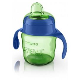 Avent Tasse Verte Avec Anses Bleue 200 ml 6 Mois+ Garçon