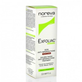 Noréva Exfoliac Soin Anti-imperfections Teinté Doré 30 ml