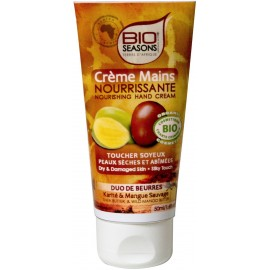 Bio Seasons Crème mains Duo de beurres karité & mangue (50 ml)