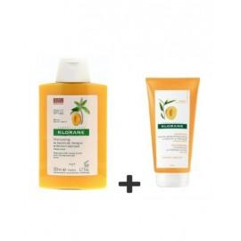 Klorane Shampoing Nutritif au Beurre de Mangue + baume après shampoing au Beurre de Mangue OFFERT
