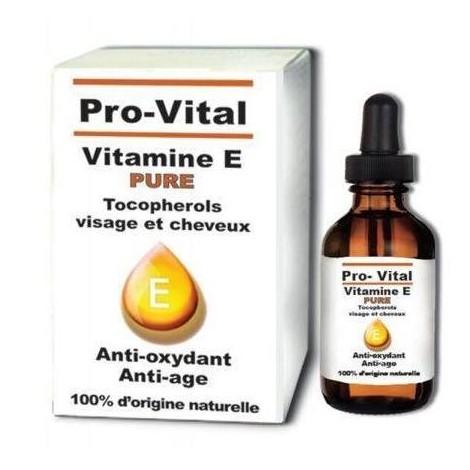 Pro-vital vitamine E visage et cheveux 10 ml