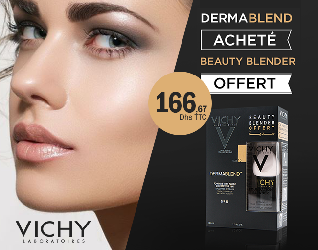 Vichy Dermablend Fond De Teint Correcteur ( 30 Ml) + Beauty Blender Offert