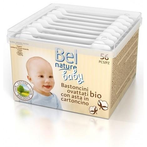 Bel Nature 56 Bâtonnets sécurité oreille bébé coton bio