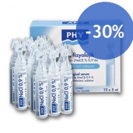 Offre Phy Sérum Physiologique Stérile Nasale et Ophtalmique (10 Unidoses x 5 ml)