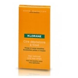 Klorane Cire Depilatoire A Froid 6 Bandelettes Visage Et Zones Sensibles