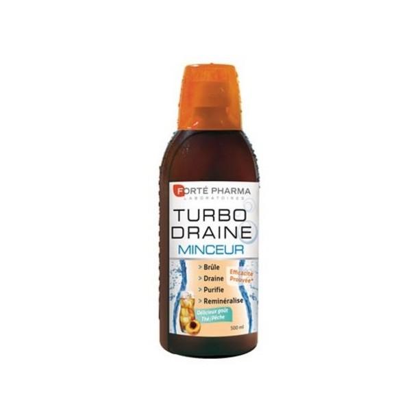 Forté Pharma Turbo Draine Minceur Pèche (500 Ml) - APYAPARA