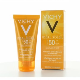 Vichy Idéal Soleil Emulsion Anti-brillance Toucher Sec invisible IP50+ (50 Ml)