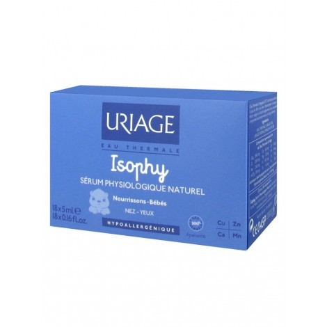uriage isophy s rum physiologique naturel 18 x 5 ml apyapara. Black Bedroom Furniture Sets. Home Design Ideas