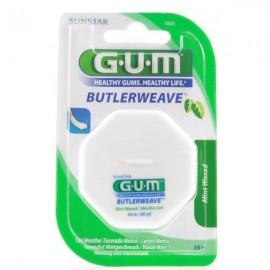 Gum Butlerweave Fil Dentaire Mentholé Ciré 1855