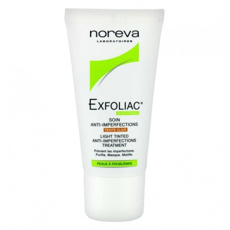 Noréva Exfoliac Soin anti-imperfections Teinté Claire 30 ml