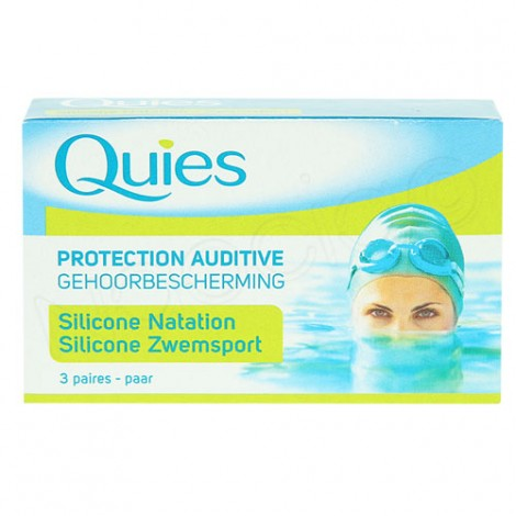 Quies protection auditive 3 paires silicone natation