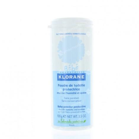 Klorane Bébé Poudre de Toilette flacon 100 g