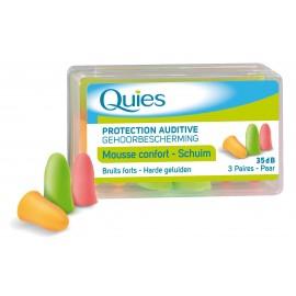 Quies Protection auditive Mousse confort 3 paires (stop bruit)