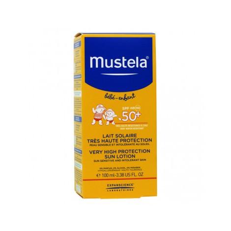 Mustela Bébé/Enfant Lait Solaire Trés Haute Protection spf 50+ 100 ml